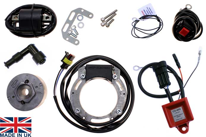 Universal CDI ignition stator kit for 2 stroke single