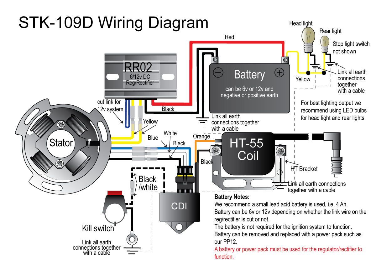 STK 109D wiring diagram ignition lighting alternator kit for royal enfield crusader Basic Electrical Wiring Diagrams at reclaimingppi.co