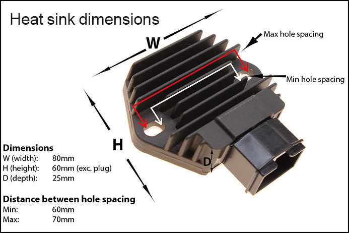 Regulator rectifier for honda cbr400rr nc23 rvf400r nc35 vfr400 nc30 heat sync dimensions rr58 asfbconference2016 Image collections