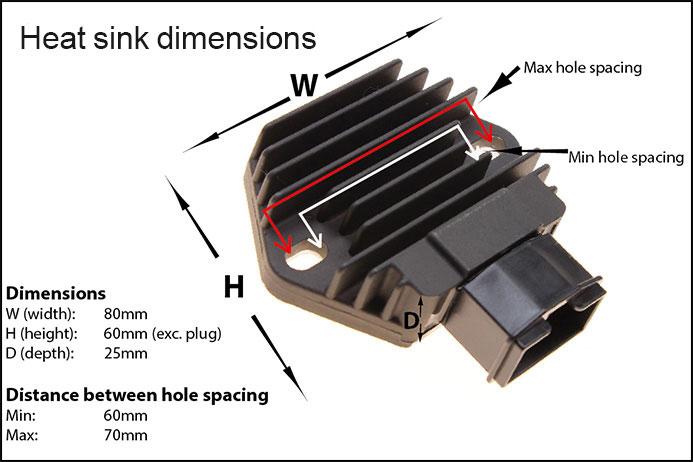 Regulator rectifier for honda cbr400rr nc23 rvf400r nc35 vfr400 nc30 heat sync dimensions rr58 asfbconference2016 Choice Image